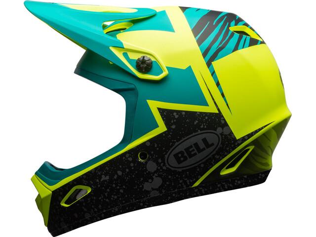 Bell Transfer-9 - Casque de vélo - jaune/turquoise